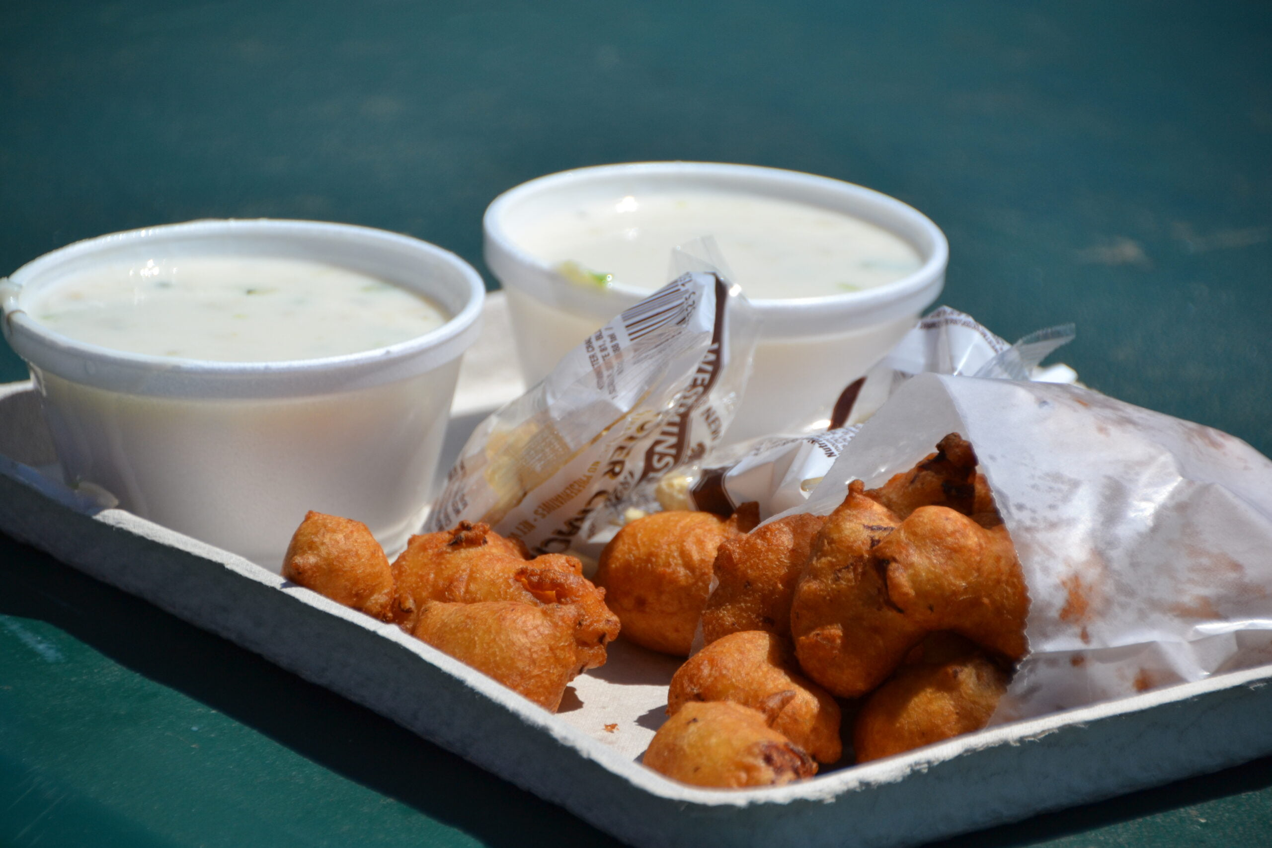 clam cakes and chowder